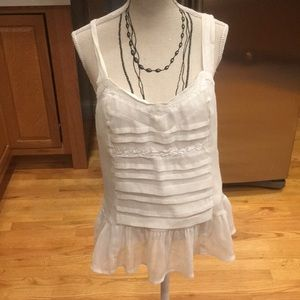 American Eagle white top lined size small worn3's